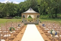 Cahoots wedding decoration and prop hire drapes decoration summer ceremony junglespirit Images